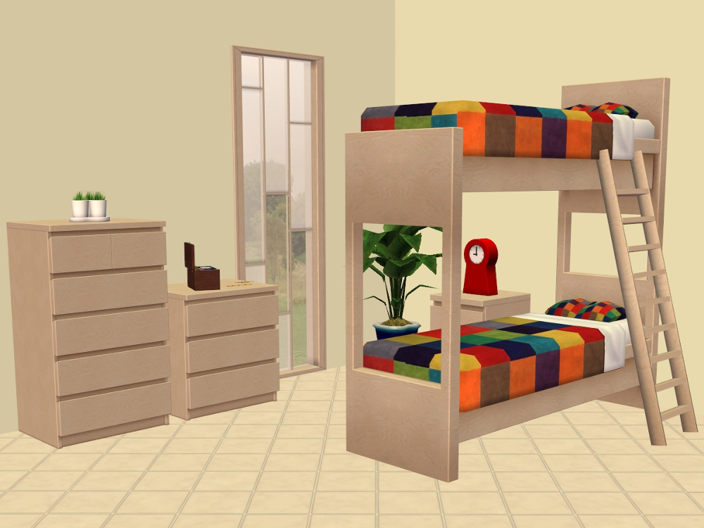 mod the sims ikea bunk beds and more. Black Bedroom Furniture Sets. Home Design Ideas