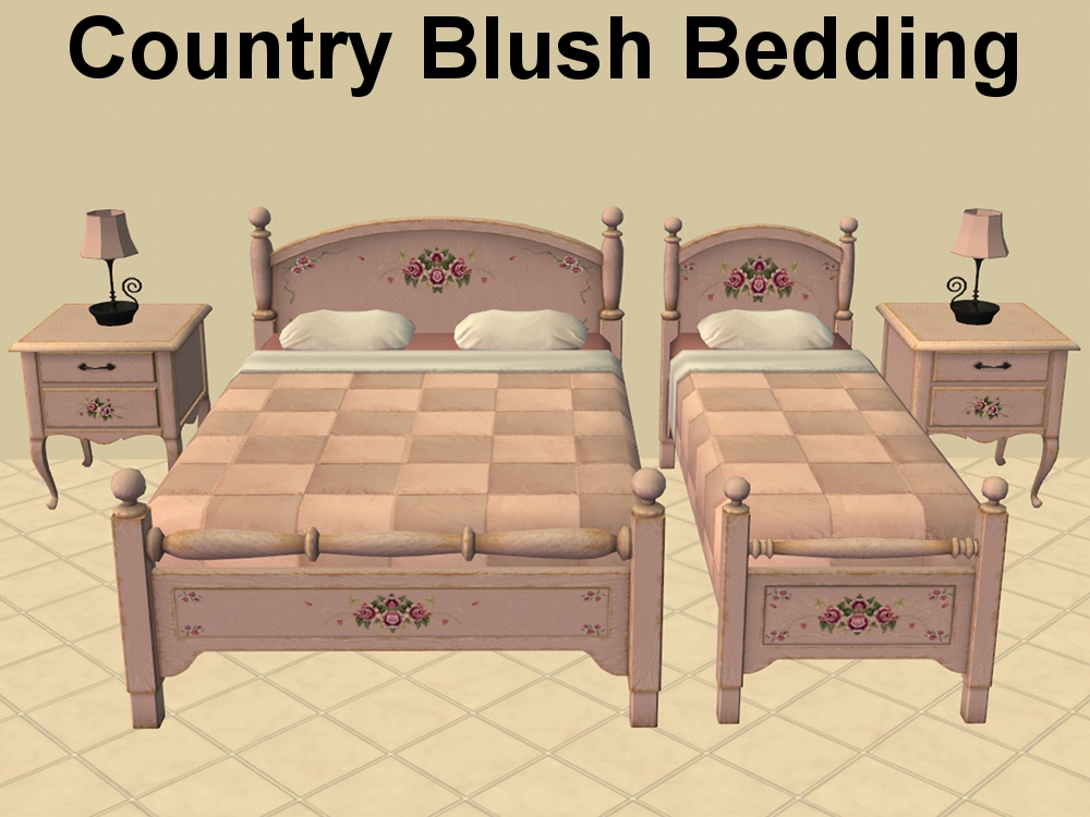 Advertisement. Mod The Sims   Country Beds and Fixed Maxis Bedding