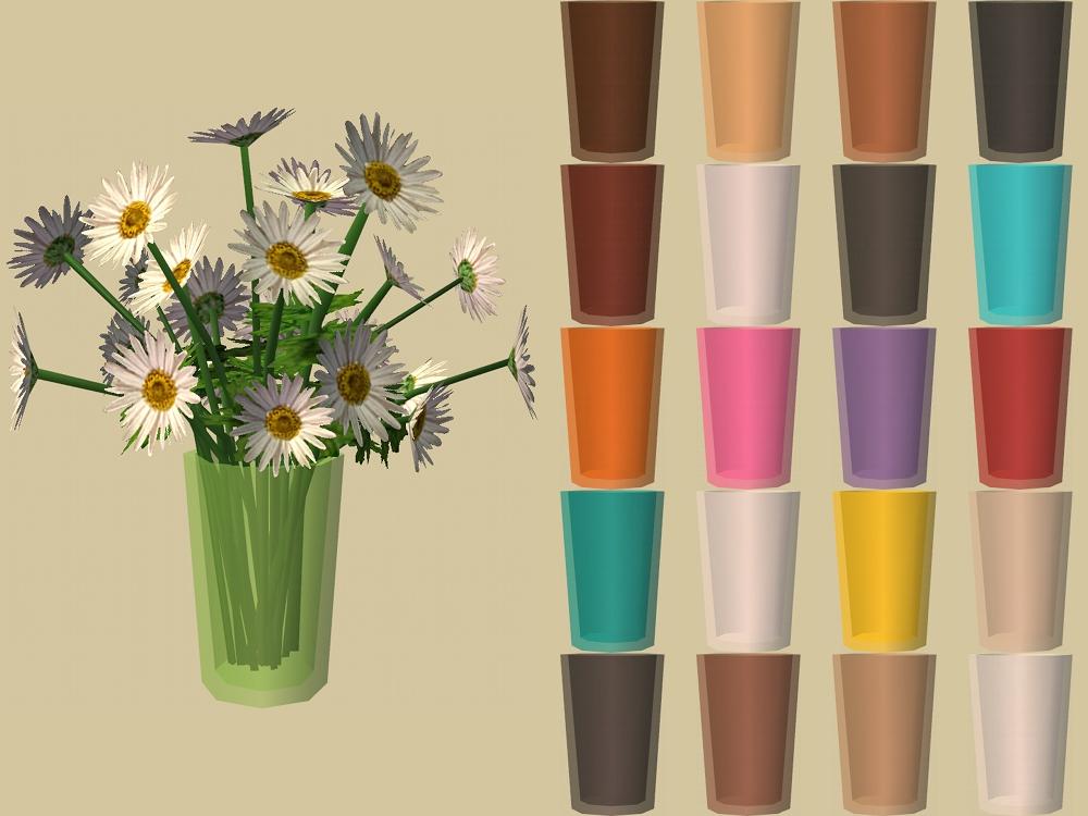 mod the sims floral workstation vase recolours. Black Bedroom Furniture Sets. Home Design Ideas