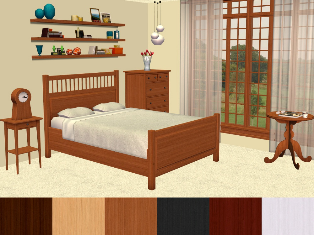mod the sims ikea hemnes bedroom furniture recolours