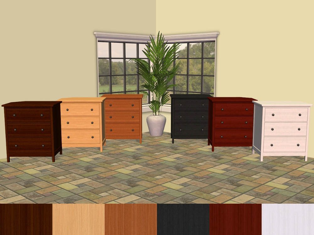 mod the sims ikea hemnes bedroom furniture recolours. Black Bedroom Furniture Sets. Home Design Ideas