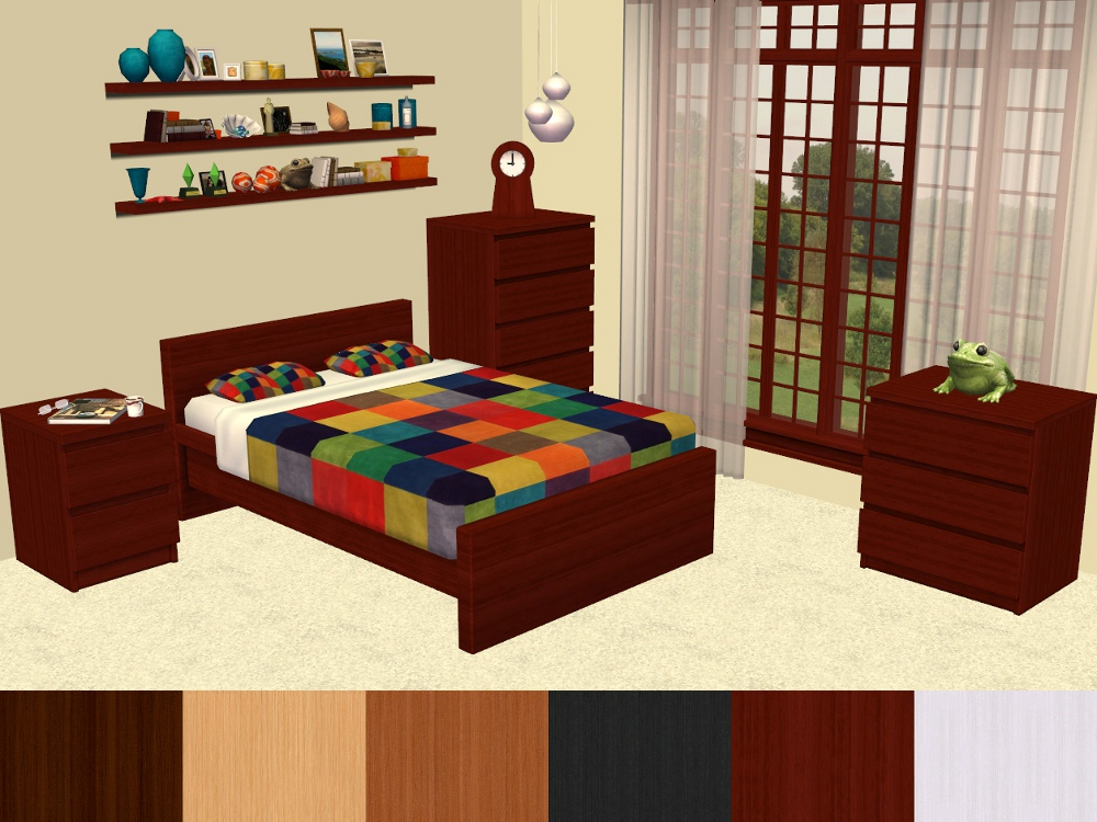 Mod The Sims - MALM Bedroom Furniture Recolours - * UPDATED 7/30/2013 *