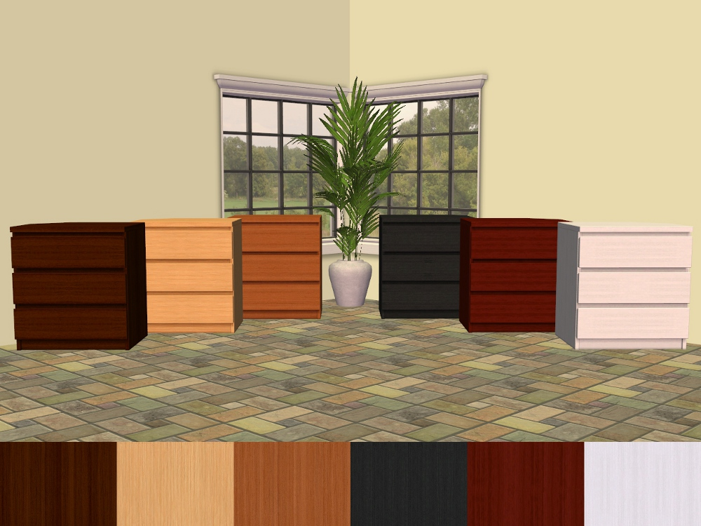 Mod The Sims - MALM Bedroom Furniture Recolours - * UPDATED 7/30 ...