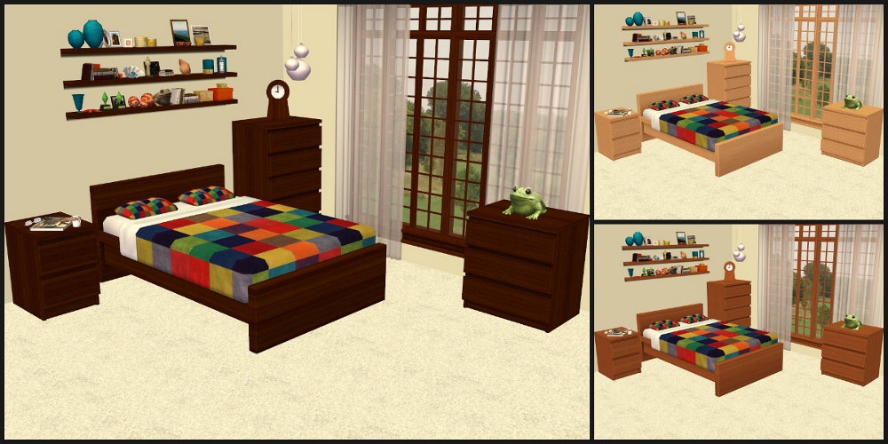 mod the sims malm bedroom furniture recolours