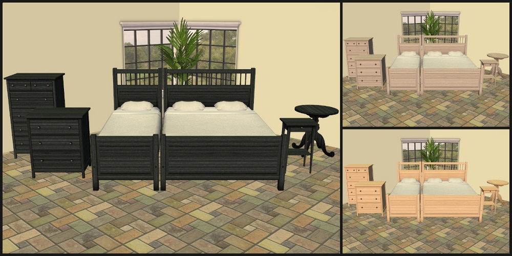 Mod The Sims - 18 More IKEA - Hemnes Bedroom Furniture Recolours