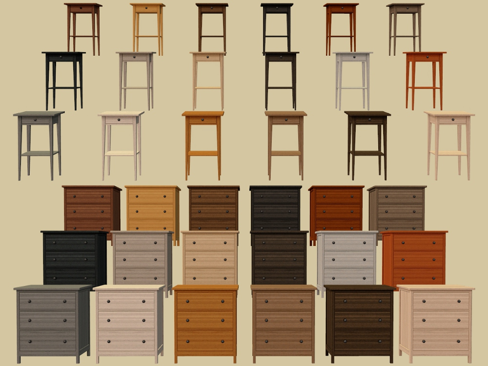 Mod The Sims 18 More IKEA Hemnes Bedroom Furniture Recolours