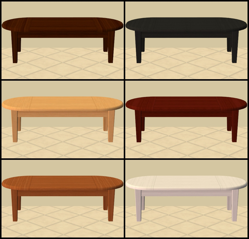 Mod The Sims Base Game Coffee Tables Recoloured Part 1