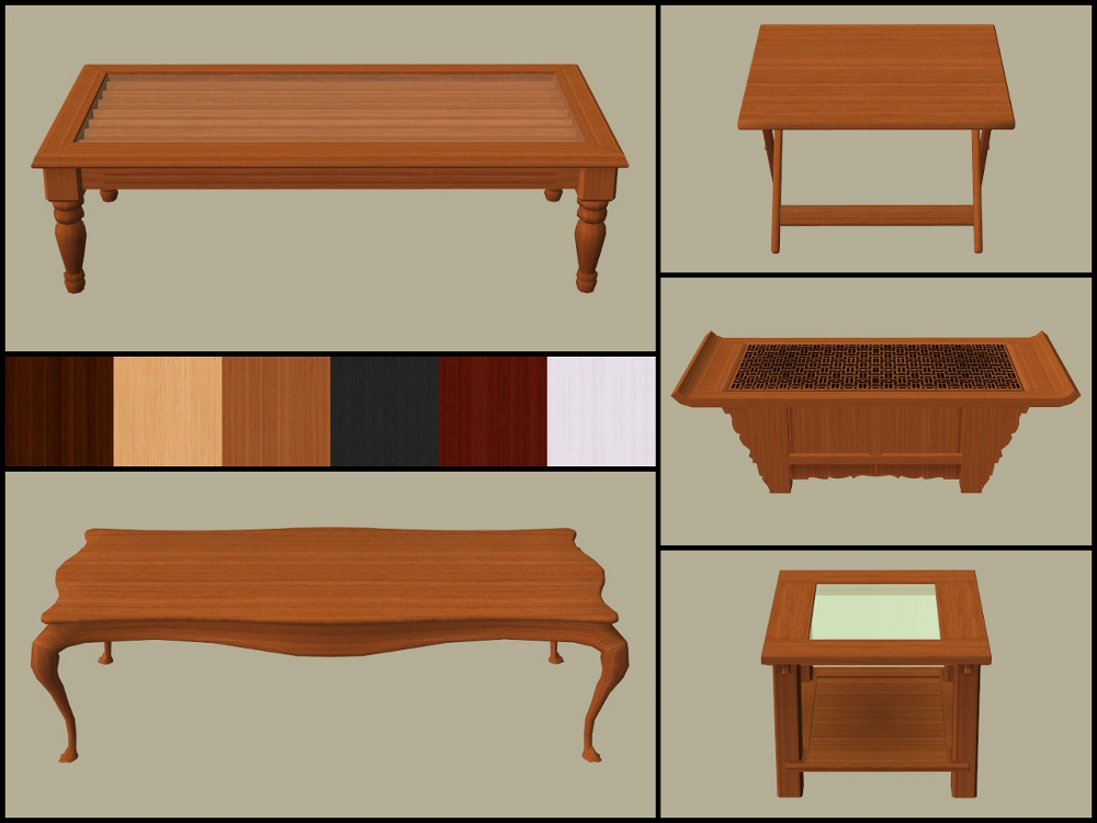 Mod The Sims Base Game Coffee Tables Recoloured Part 2
