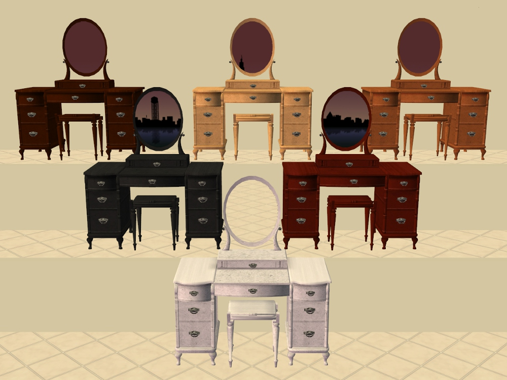 Mod The Sims - Vanity Table Recolours