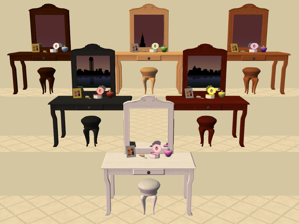 Mod The Sims Vanity Table Recolours