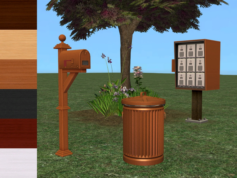 This Is Not A Able Object It S Recolours Of The Mailboxes And Trash Can You Ll Need Apartment Life To Use Both Mailbox