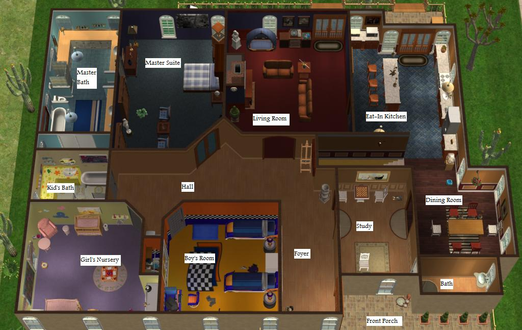 Mod the sims 3 bed study finished basement for Sims house plans free