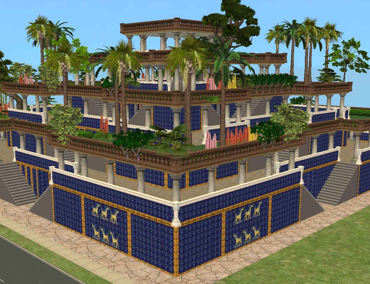 Mod The Sims Ancient World Wonders Hanging Gardens Of Babylon