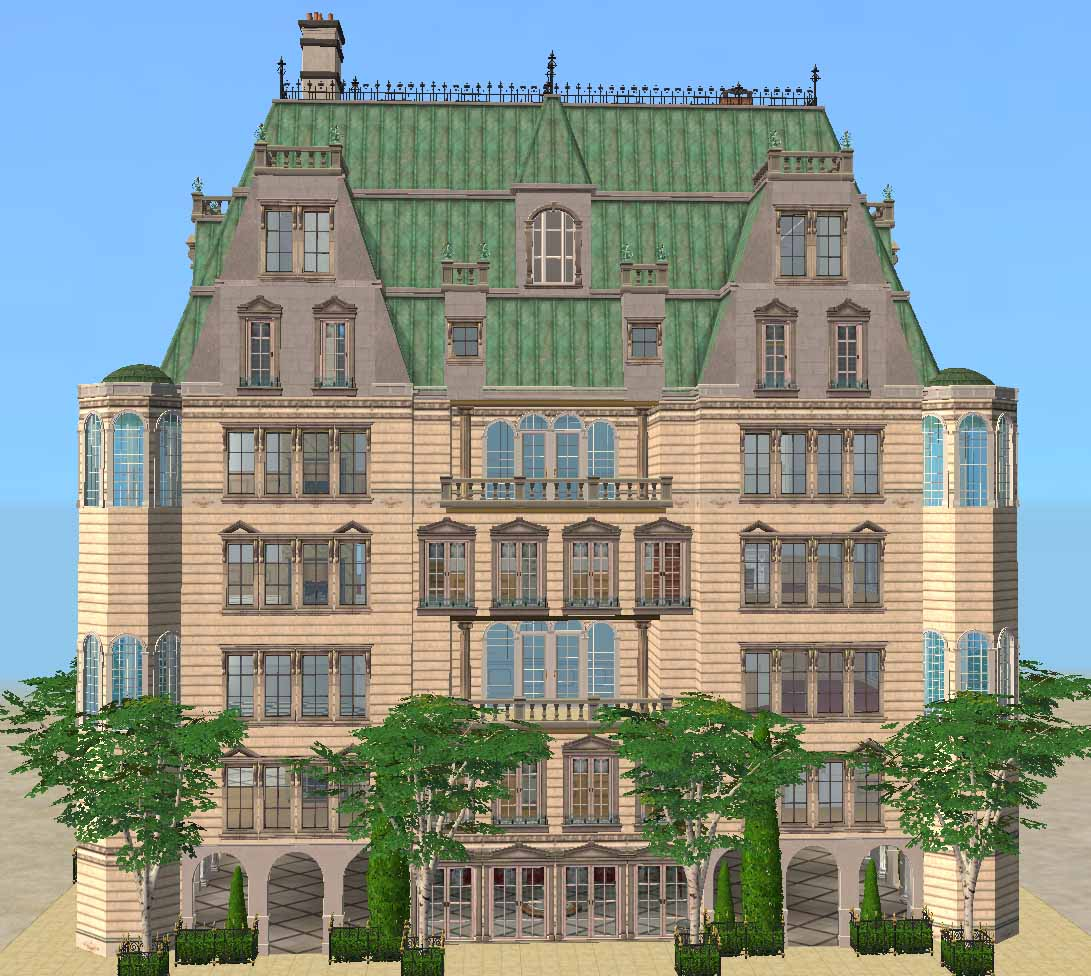 Mod the sims baroque aristocratic apartment building for Classic house sims 3