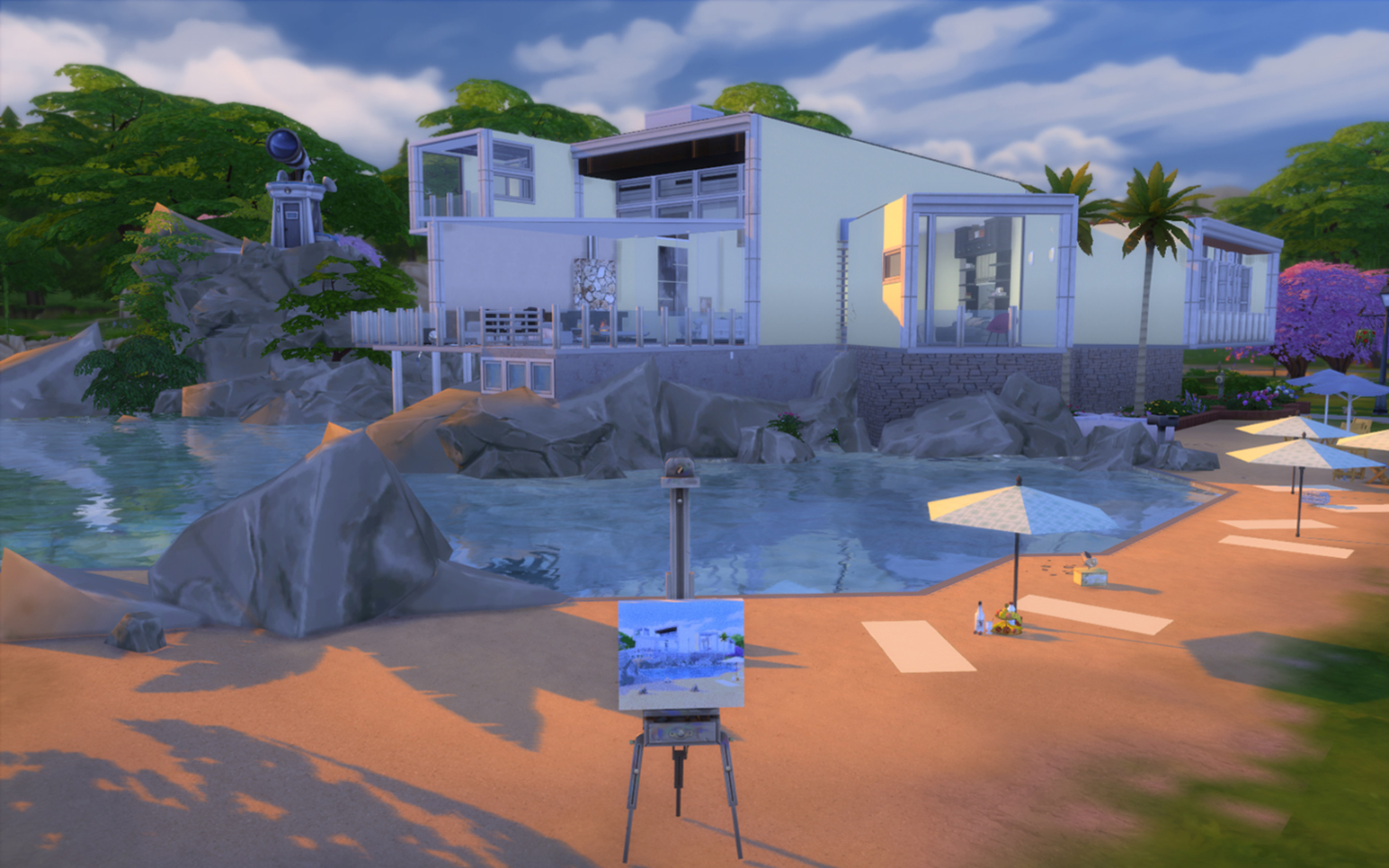 Mod the sims beach house dreamingwater visions 1 3 for Beach house 3 free download