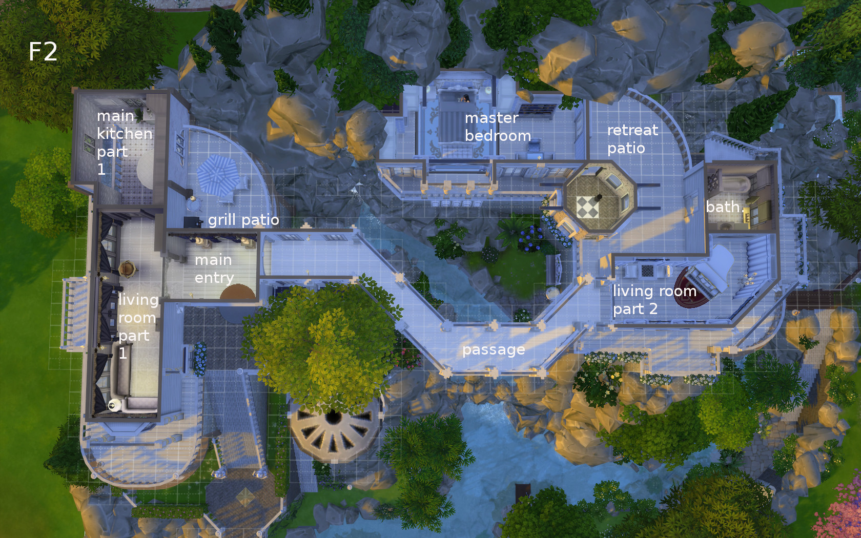 Room Floor Plan Creator Mod The Sims Rivendell Elven Outpost No Cc