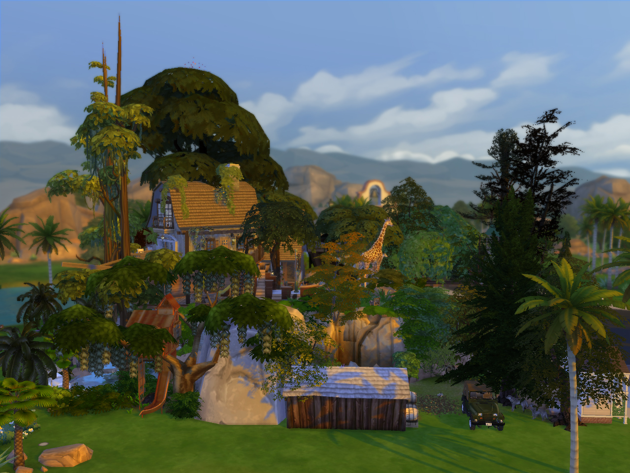 Mod The Sims - Jungle Adventure (All-in-one lot)