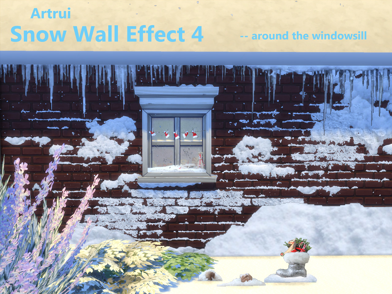 mod the sims snow wall effect 4