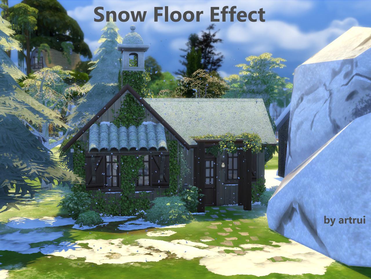mod the sims snow floor effect