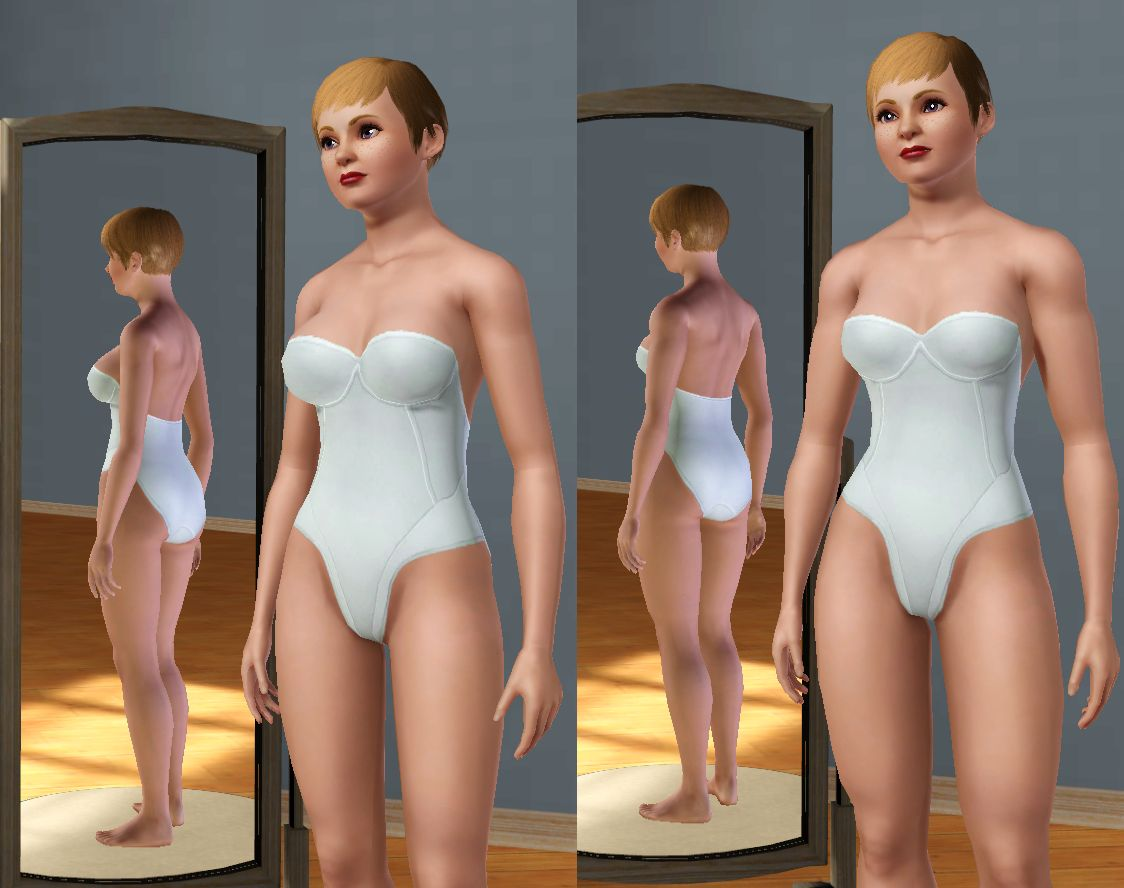 Mod The Sims - New Non-Default Lara Croft BodyShape Mesh