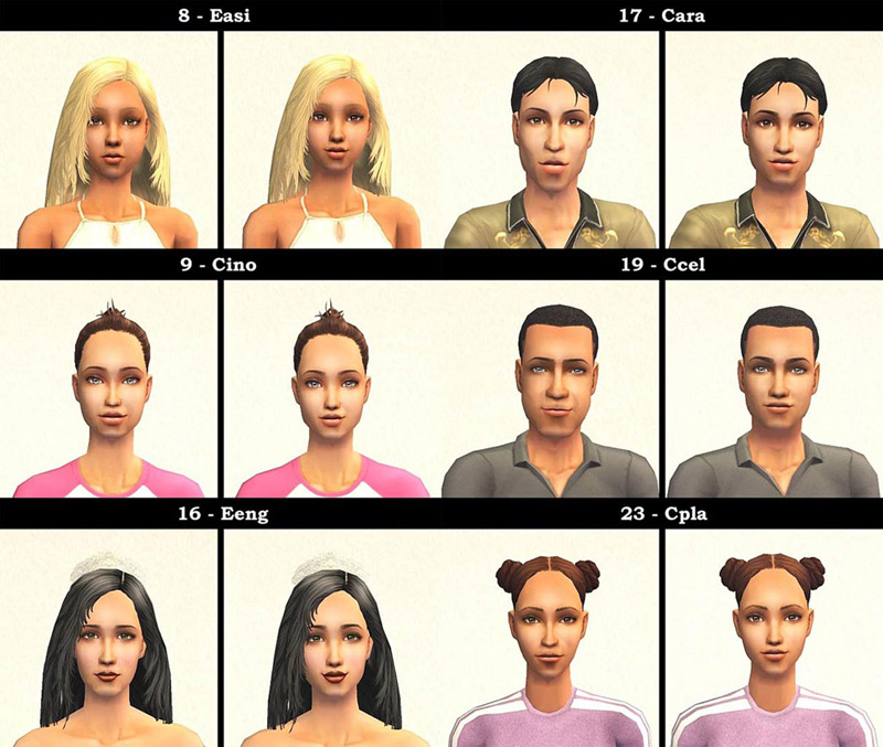 Mod The Sims - Defuglified Maxis faces - 27 CAS face