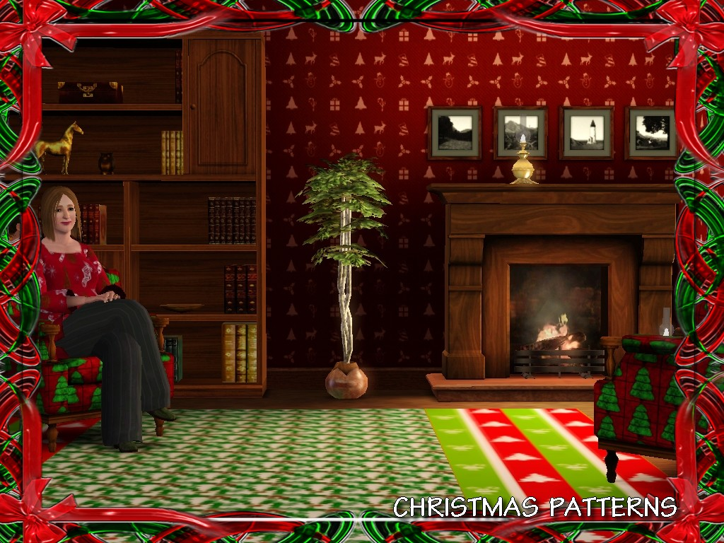 mod the sims christmas patterns. Black Bedroom Furniture Sets. Home Design Ideas
