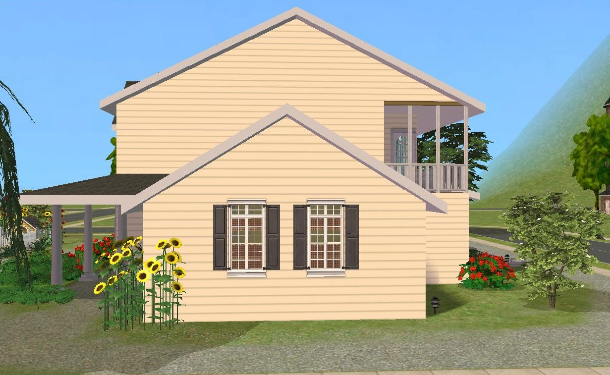 Mod the sims country house for The view house