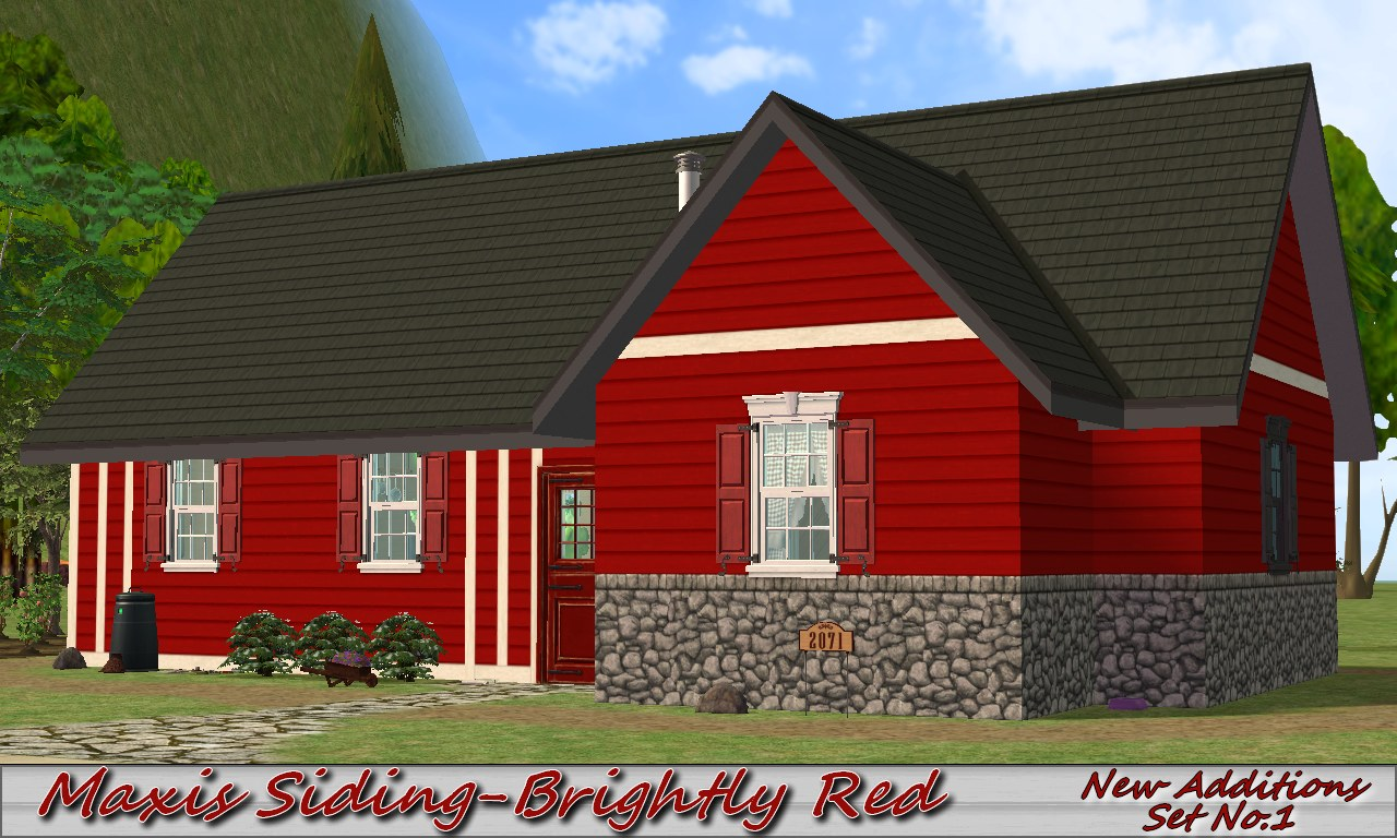Mod The Sims Maxis Siding Brightly Red