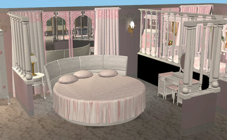 Mod The Sims Continuation Of The Marble Pink Set Bedroom