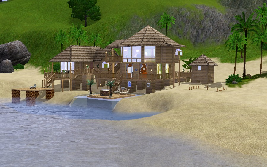 Mod Sims Tropical Beach House