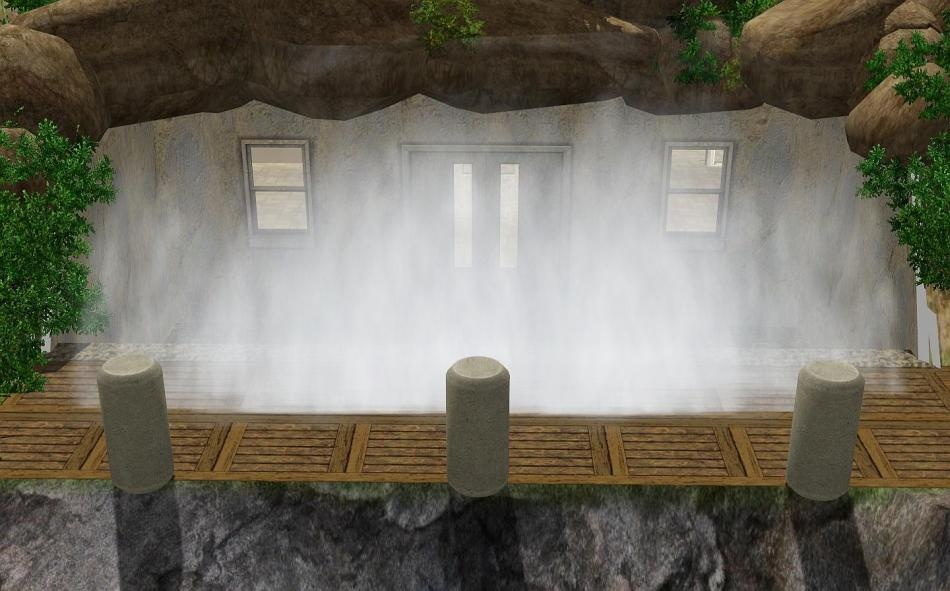 Mod The Sims Waterfall Cave Bunker