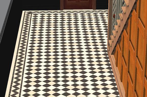 Mod The Sims Albert Victorian Tile Flooring Set