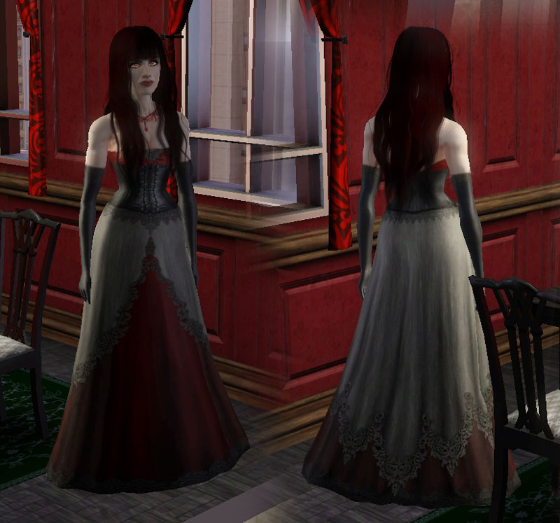 mod the sims   vampire gown conversion