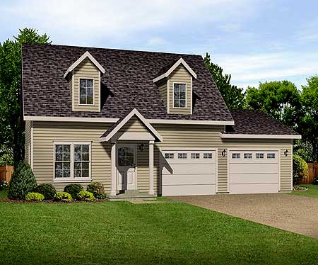 Mod the sims all around the world collection cape cod for Cape cod house plans with attached garage