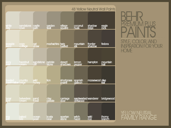 Behr paint colors coloring pic for Behr neutral paint colors