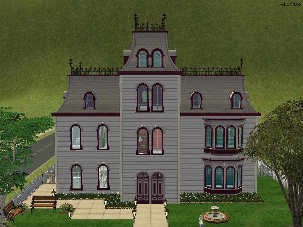 Mod the sims duskeyn house request small second empire for Mini mansions houses