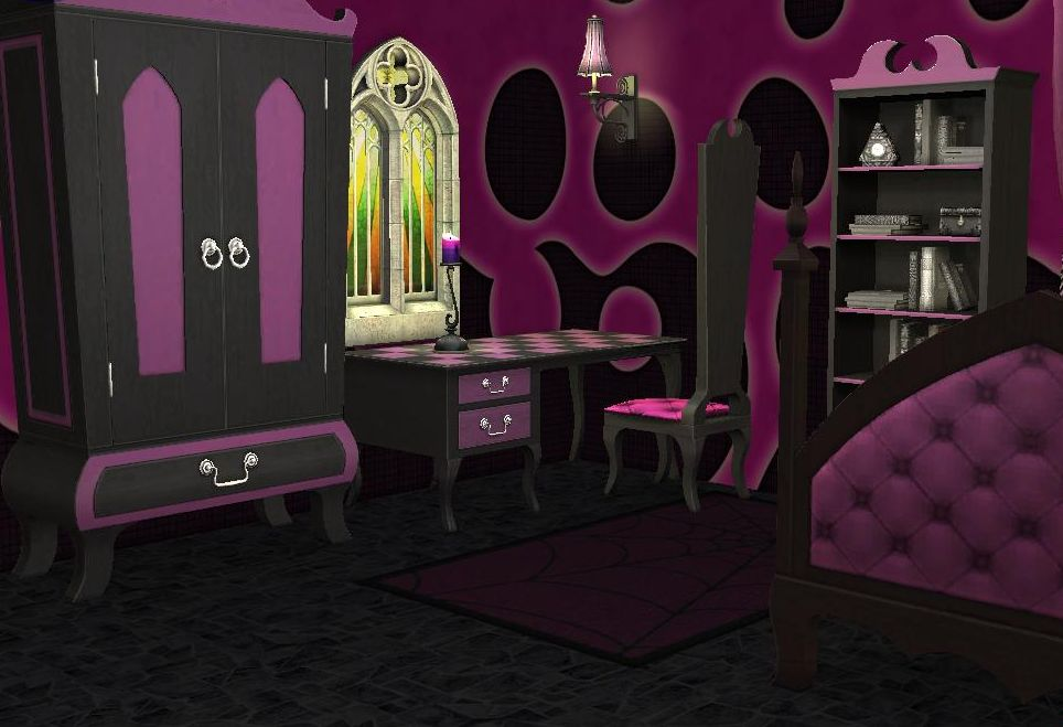 Free Mod The Sims Pale Pink Teen Style Gothic Set With Gothic Bedrooms Gothic Bedrooms