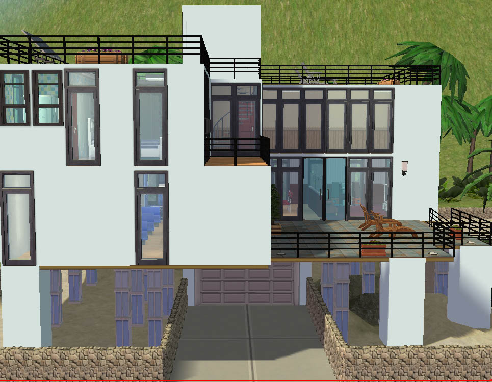 Mod The Sims 1 Beachy Point Modern Beach Front House