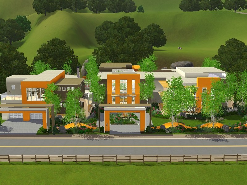 Mod The Sims - The Grand Retreat: A Modern Mansion
