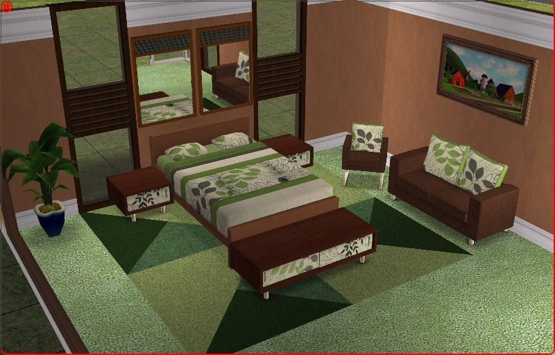 Mod the sims 8 matching bedding for holy simoly 39 s for Matching living room sets