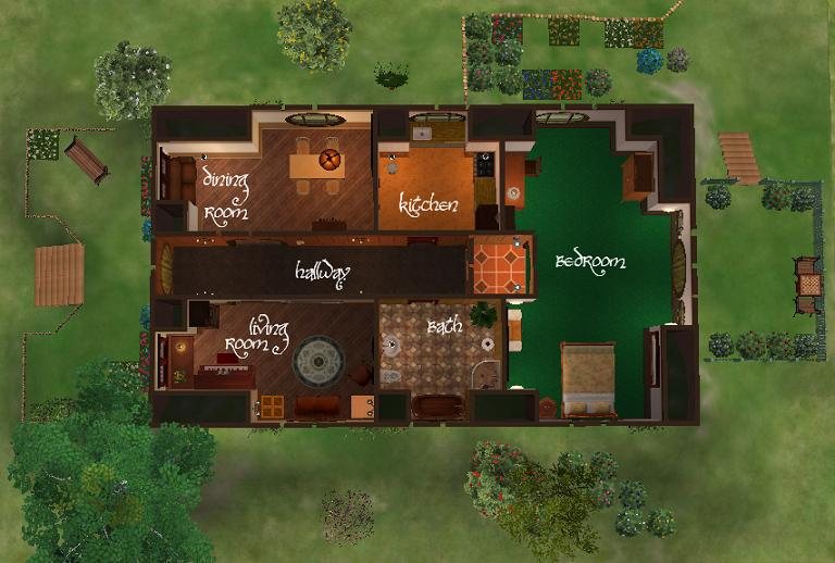 Mod The Sims A Small Hobbit House