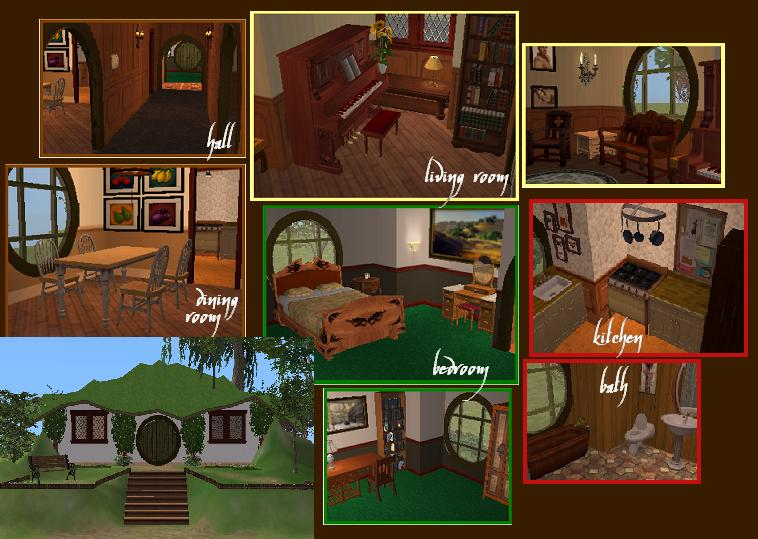 Sims  How To Build Hobbit House