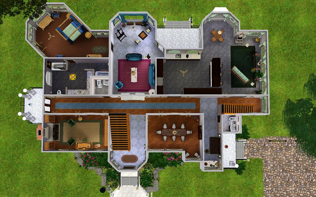 Mod The Sims Large House For 8 Sims