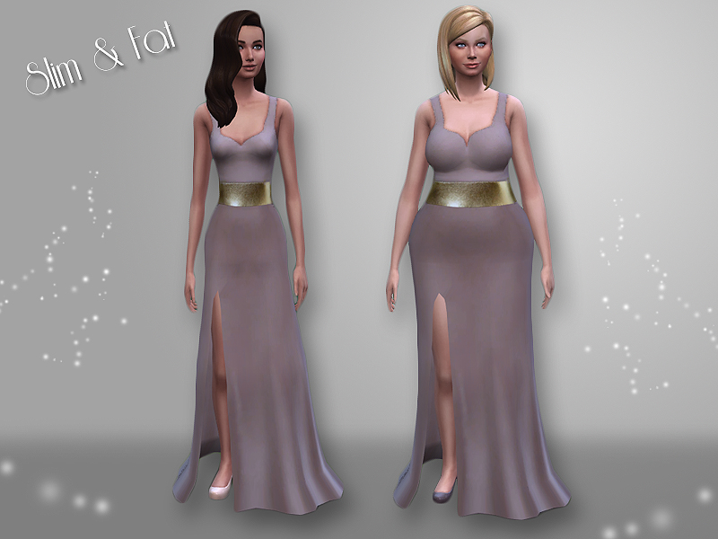 Mod The Sims - Side Slit Evening Dress