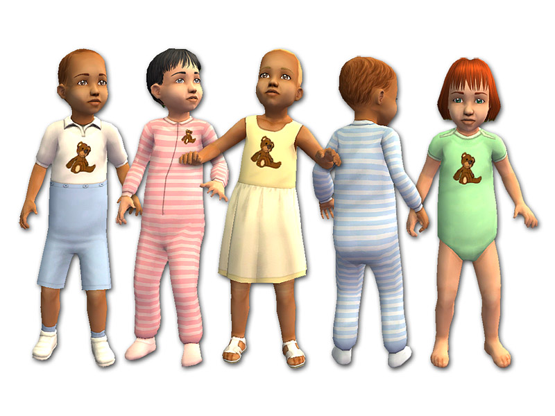 Sims  Baby Clothes And Hair Mod