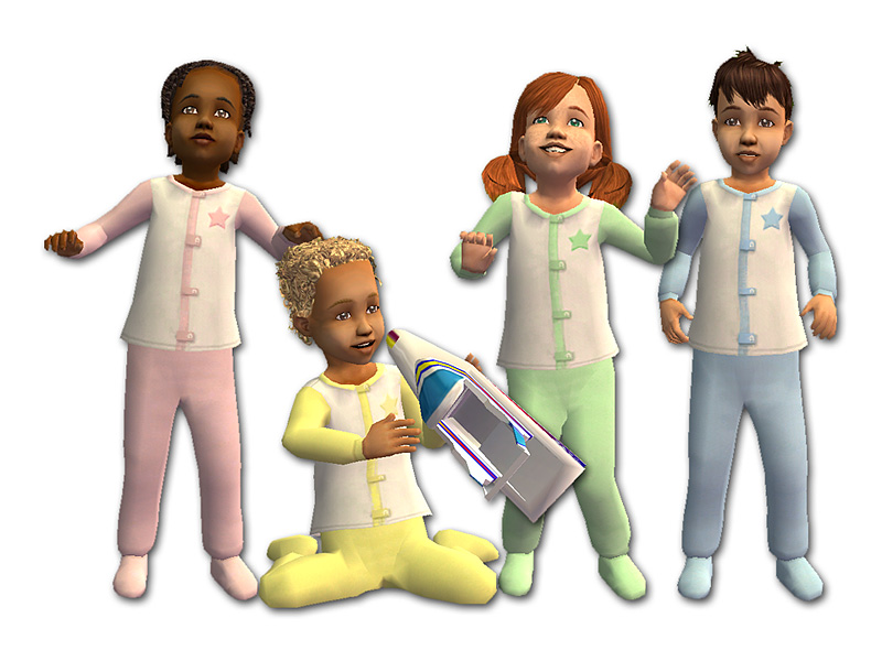 Mod The Sims Tetrachromatic Toddler Outfits