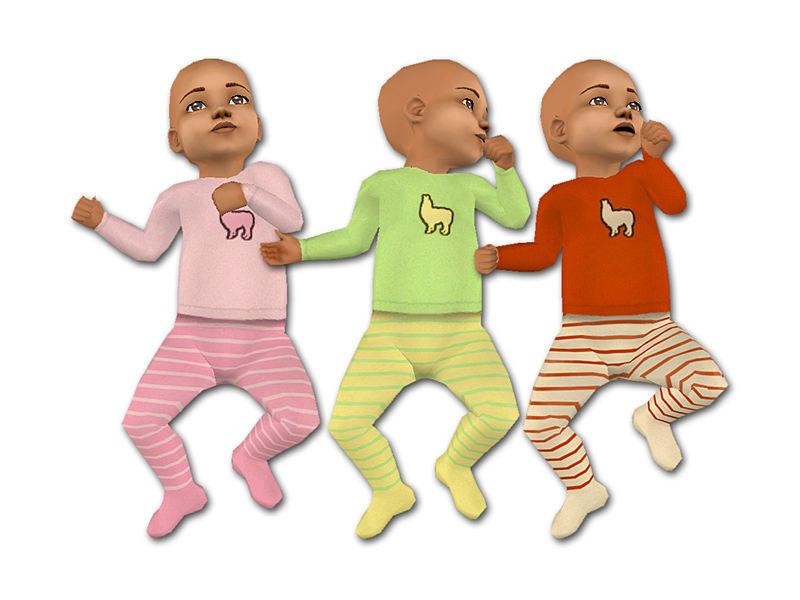Mod The Sims Little Llama Baby Outfits