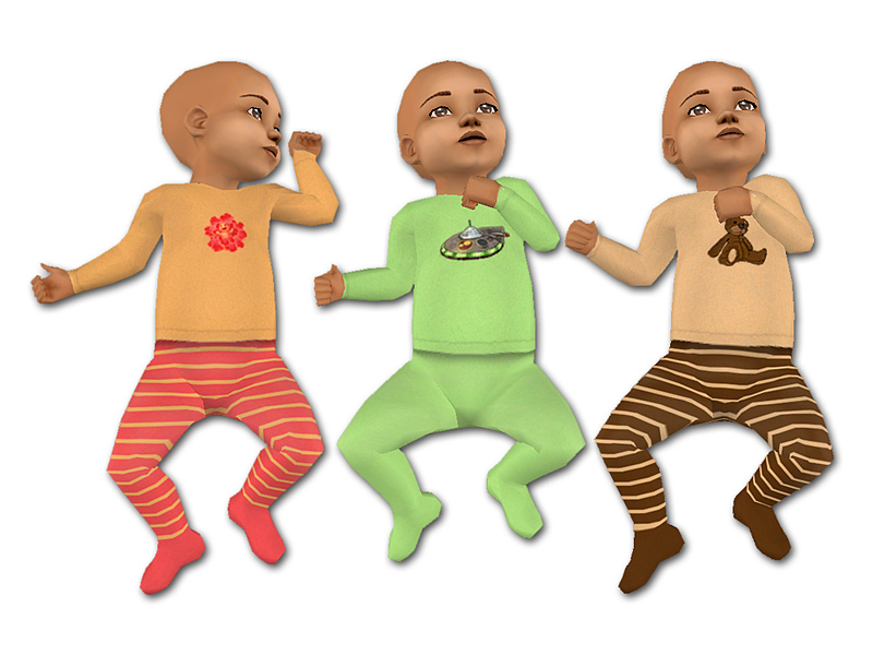 Mod The Sims - Maxis Match Baby Outfits