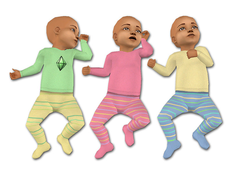 Mod The Sims Maxis Match Baby Outfits