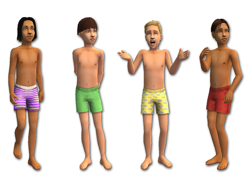 Mod The Sims - Boys' Boxers